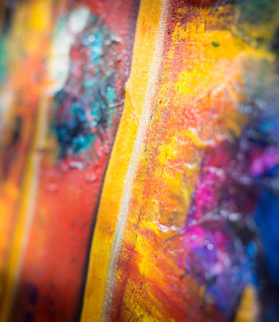 Close up of painting by Carolina Gårdheim
