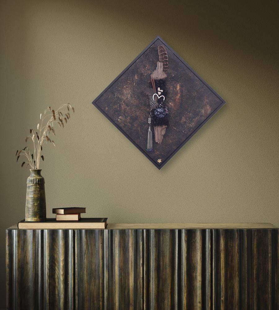 You are creation - Enjoy! Totem Art by Carolina Gårdheim